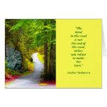 El camino amarillo tarjeta