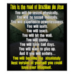 """El camino brasilen@o poster de Jiu de Jitsu"""
