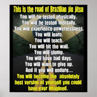 El camino brasilen o poster de Jiu de Jitsu