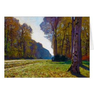 El camino de Chailly Claude Monet fresco, viejo, a Tarjeta Pequeña