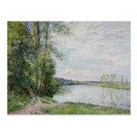 El camino de la orilla de Veneux a Thomery, 1880 Tarjeta Postal