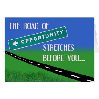 El camino de la tarjeta de la oportunidad
