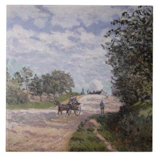 El camino de Mantes a Choisy le Roi, 1872 Azulejo Cuadrado Grande