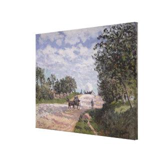 El camino de Mantes a Choisy le Roi, 1872 Impresiones En Lona