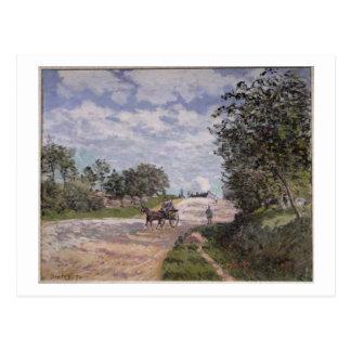 El camino de Mantes a Choisy le Roi, 1872 Tarjeta Postal