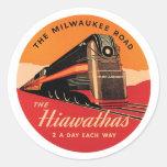 El camino de Milwaukee Pegatina Redonda