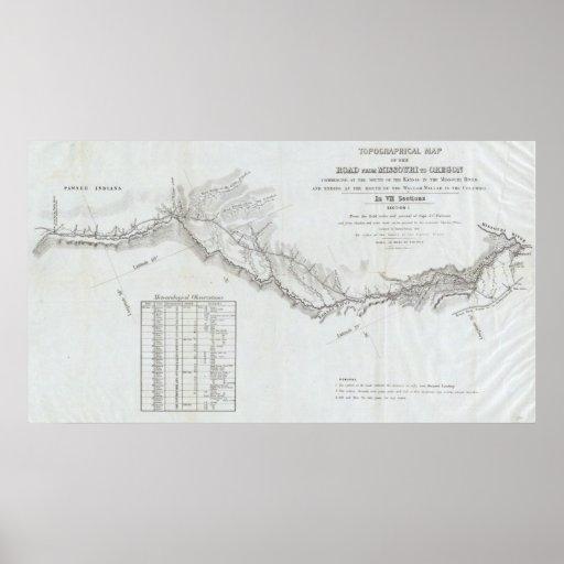 El camino de Missouri a Oregon 4 Póster