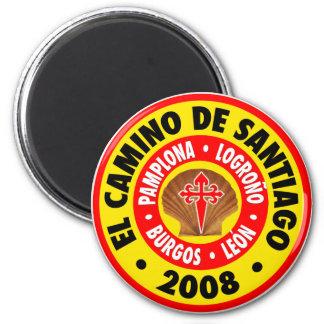 EL Camino De Santiago 2008 Imán Redondo 5 Cm