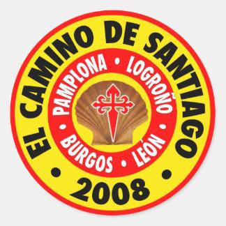 EL Camino de Santiago 2008 Pegatina Redonda