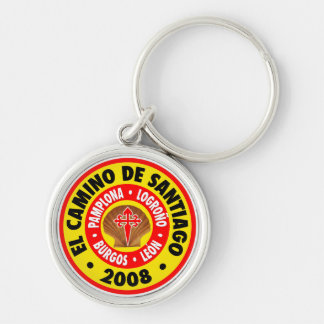El Camino De Santiago 2008 Silver-Colored Round Keychain