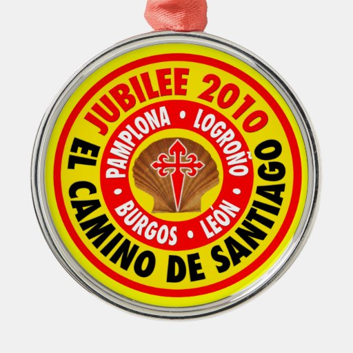 EL Camino De Santiago 2010 Adorno Navideño Redondo De Metal
