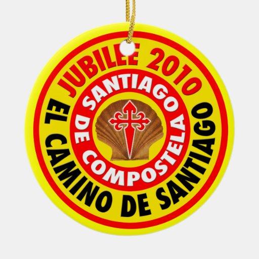 EL Camino de Santiago 2010 Adorno Redondo De Cerámica