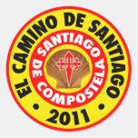 El Camino de Santiago 2011 Classic Round Sticker