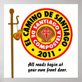 EL Camino De Santiago 2011 Póster