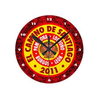 El Camino De Santiago 2011 Round Clock