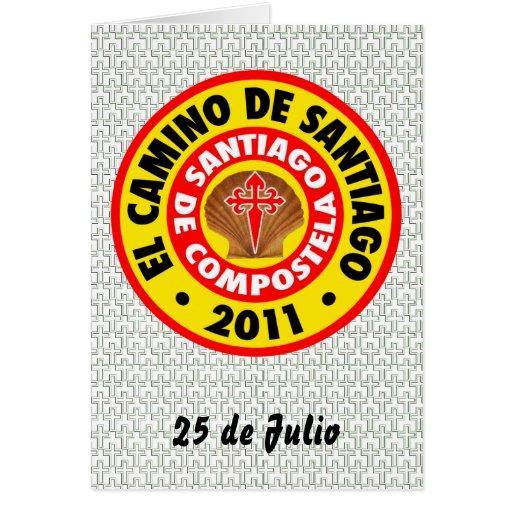 EL Camino de Santiago 2011 Tarjeta De Felicitación