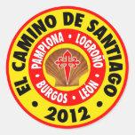 EL Camino de Santiago 2012 Etiqueta Redonda