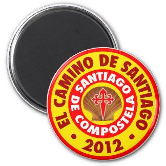 EL Camino de Santiago 2012 Imán Redondo 5 Cm