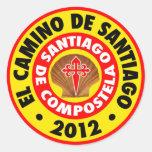EL Camino de Santiago 2012 Pegatina Redonda