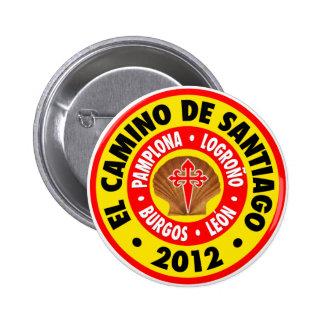 EL Camino de Santiago 2012 Pin Redondo 5 Cm