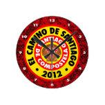 EL Camino De Santiago 2012 Reloj Redondo Mediano