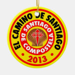EL Camino De Santiago 2013 Adorno Navideño Redondo De Cerámica