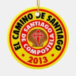 EL Camino De Santiago 2013 Adorno Redondo De Cerámica