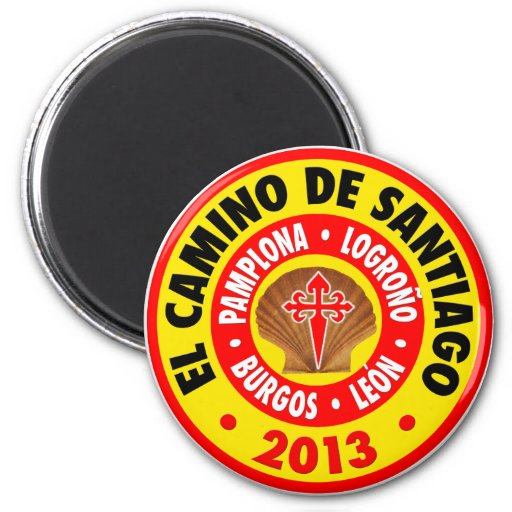 EL Camino De Santiago 2013 Imán Redondo 5 Cm