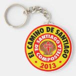 EL Camino De Santiago 2013 Llavero Redondo Tipo Pin