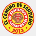 EL Camino De Santiago 2013 Pegatina Redonda