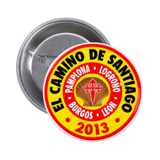 EL Camino de Santiago 2013 Pin Redondo 5 Cm