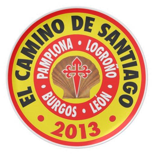 EL Camino de Santiago 2013 Plato De Cena