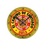 EL Camino De Santiago 2013 Relojes De Pared