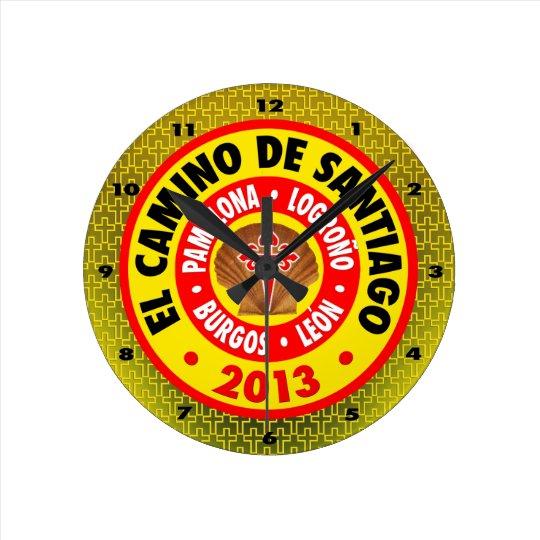El Camino De Santiago 2013 Round Clock