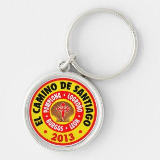 El Camino De Santiago 2013 Silver-Colored Round Keychain