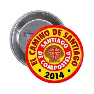 El Camino de Santiago 2014 Button