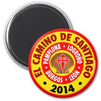 El Camino De Santiago 2014 Magnet