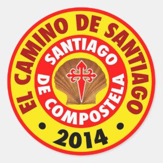EL Camino de Santiago 2014 Pegatina Redonda