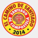 EL Camino de Santiago 2014 Pegatinas Redondas