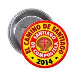 EL Camino de Santiago 2014 Pin Redondo 5 Cm