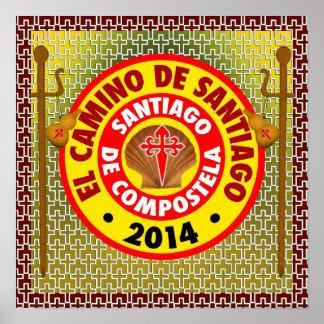 EL Camino de Santiago 2014 Póster