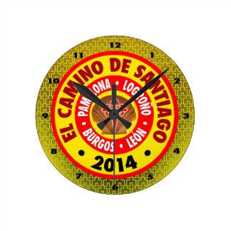 El Camino De Santiago 2014 Round Clock