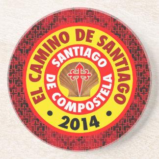 El Camino de Santiago 2014 Sandstone Coaster