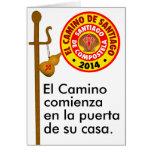 EL Camino de Santiago 2014 Tarjeta De Felicitación
