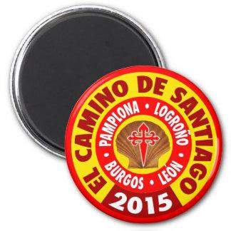 EL Camino De Santiago 2015 Imán Redondo 5 Cm
