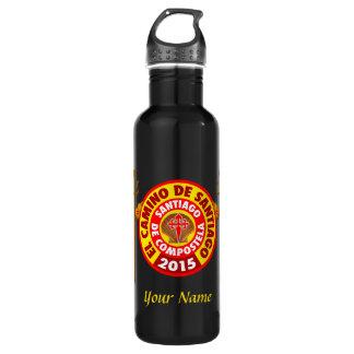 El Camino De Santiago 2015 Stainless Steel Water Bottle