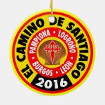 EL Camino de Santiago 2016 Adorno Navideño Redondo De Cerámica