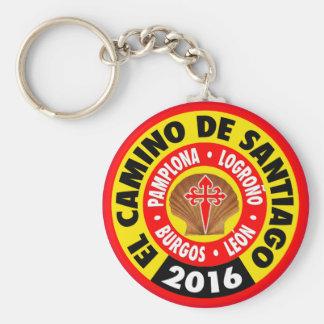 El Camino de Santiago 2016 Basic Round Button Keychain