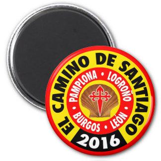 EL Camino de Santiago 2016 Imán Redondo 5 Cm