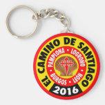 EL Camino de Santiago 2016 Llavero Redondo Tipo Pin